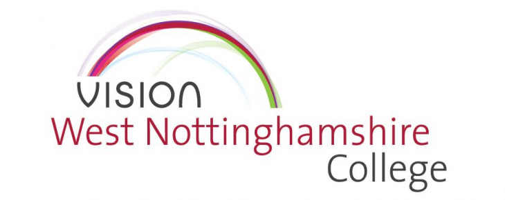 West Nottinghamshire College logo for FE recruitment